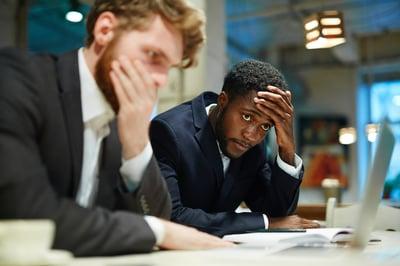 business men errors mistake