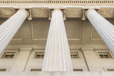 pillars of courthouse building