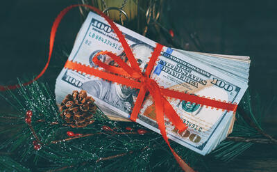 money gift holiday christmas tree