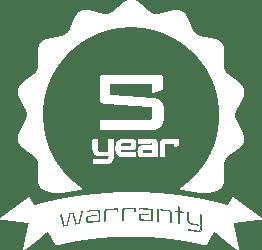 5 Year Warranty White