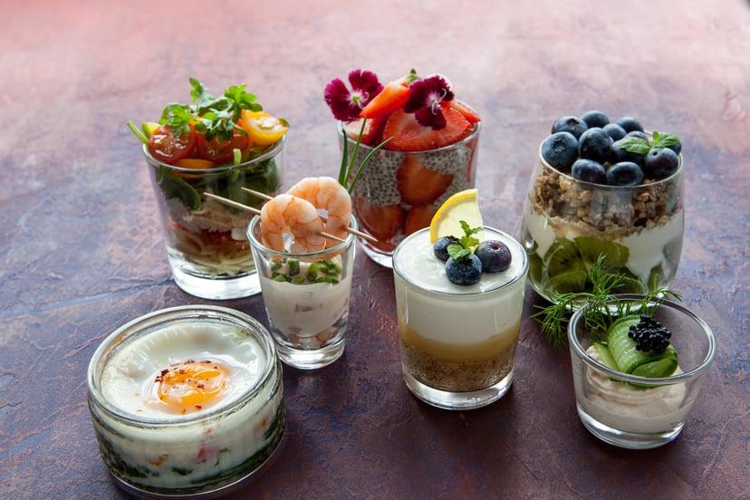 Aegg range of glass food pots