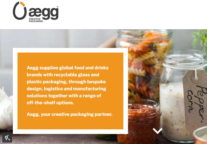 Aegg Creative Packaging new website homepage