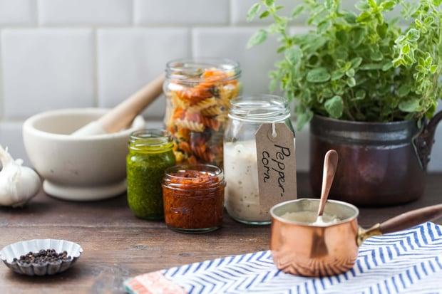 Aegg glass jars for sauces