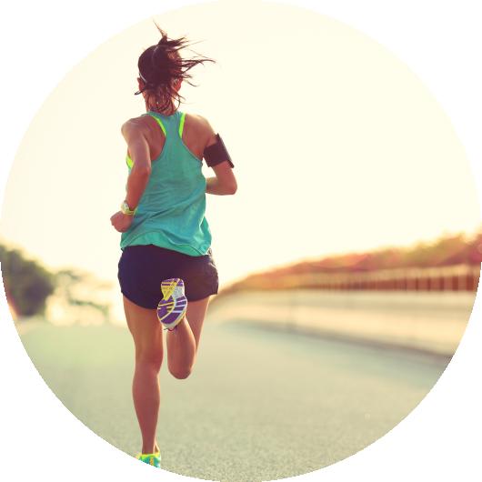 Dexcom G6 cgm-guide Kvinna som springer