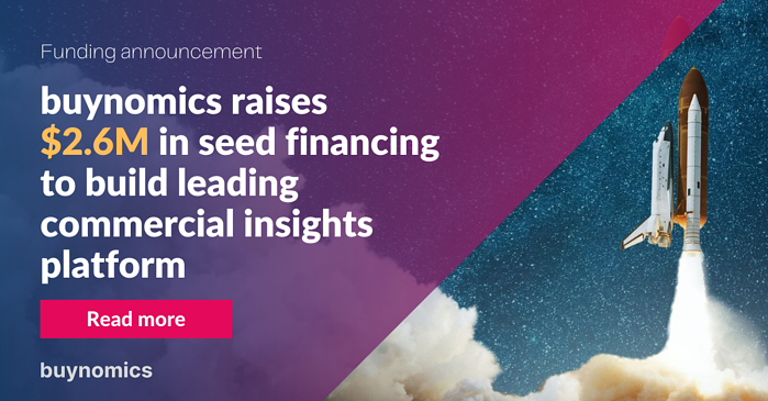 buynomics raises $2.6M in seed to build leading commercial insights platform
