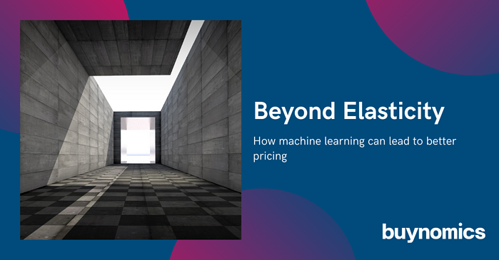 Beyond Elasticity – How machine learning can lead to better pricing