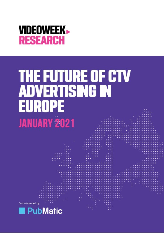 Cover for Future of CTV Advertising in Europe 2021-1