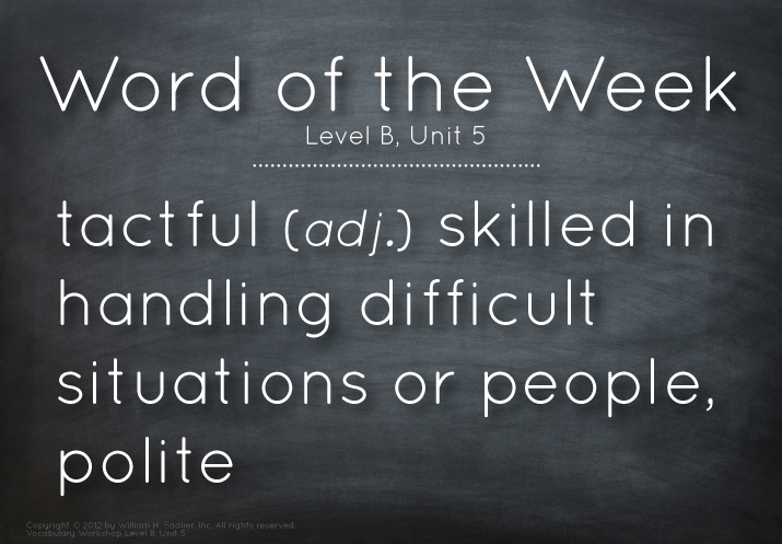WordoftheWeektactful
