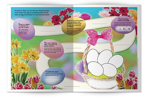 Easter Season Printables for Catholics Families - Easter Signs of New Life Lesson