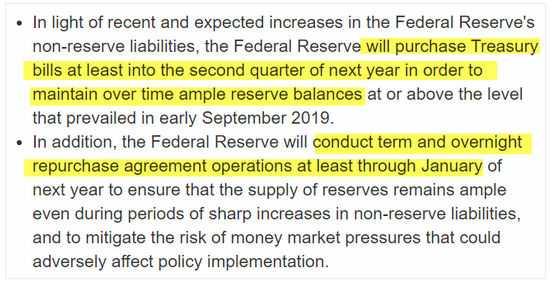 federal reserve october comments