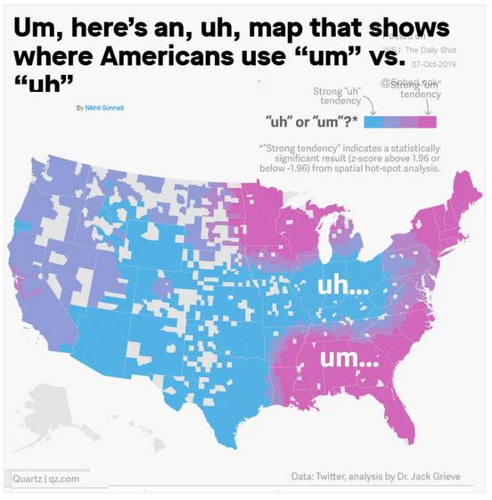 filler words by region