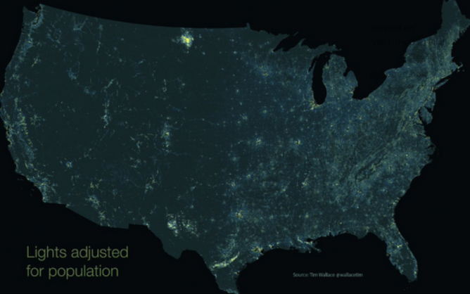 u.s. light pollution
