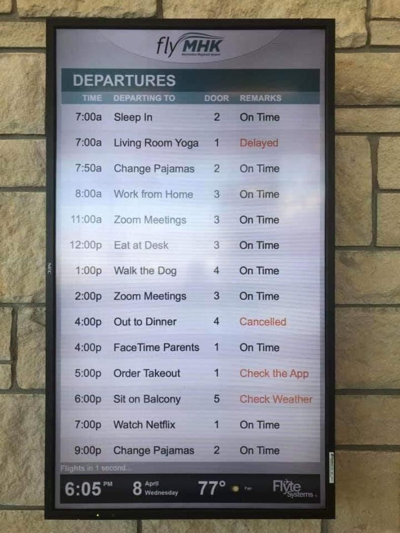 4.22 flight schedule