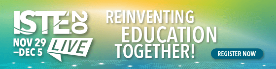 ISTE20 Reinventing Education Together graphic
