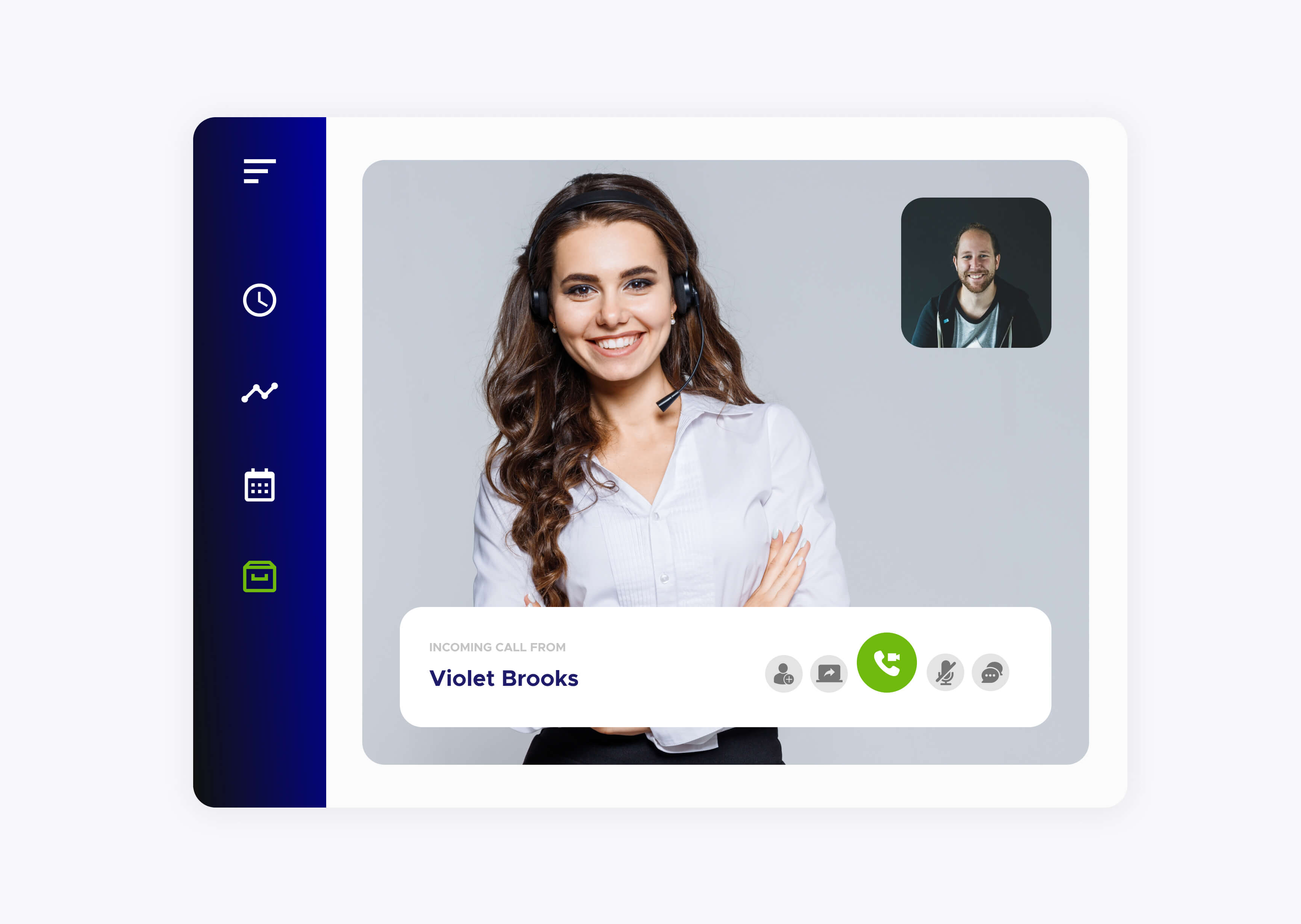 Video Call Violet Garcia with a customer using the ACF Technologies application