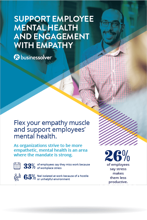 Infographic - Support Employee Mental Health and Engagement with Empathy