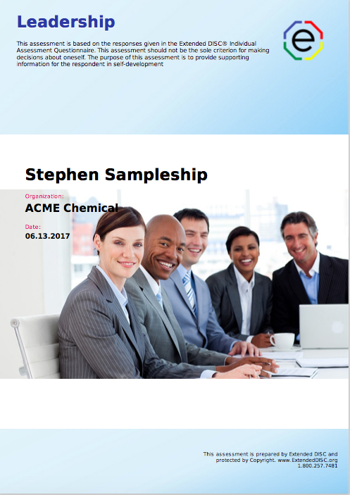 Extended DISC Leadership Cover Screenshot