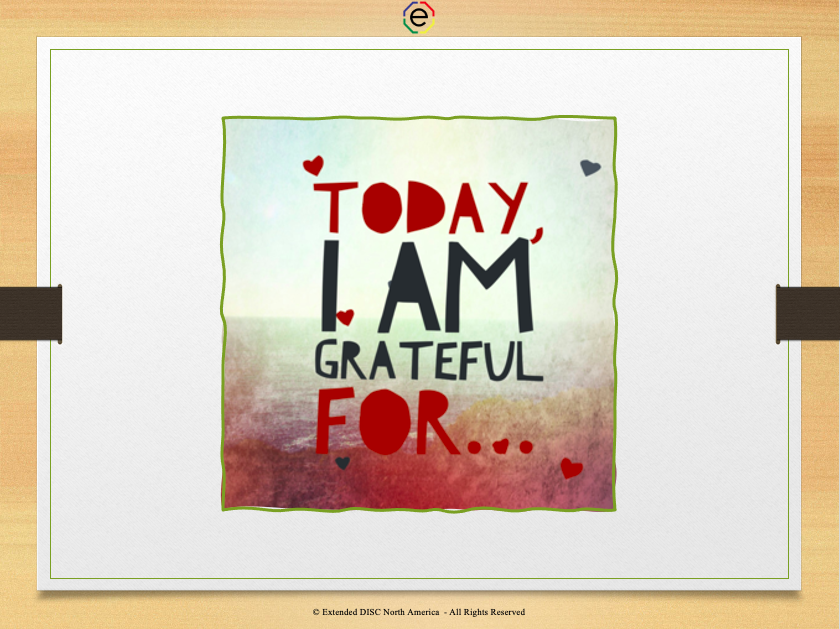 Today I  am grateful for...quote slide