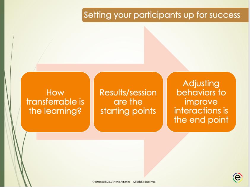 Setting Your DISC Participants Up for Success Slide