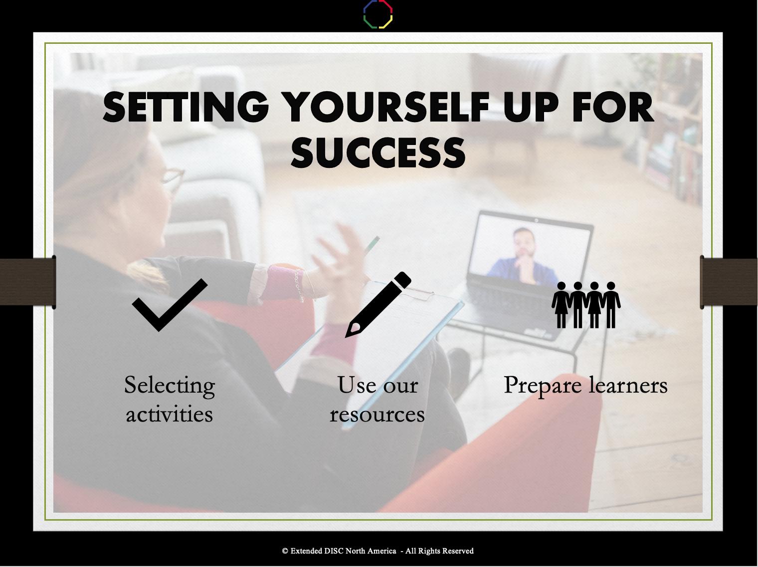 Setting Yourself Up for Success Webinar Slide
