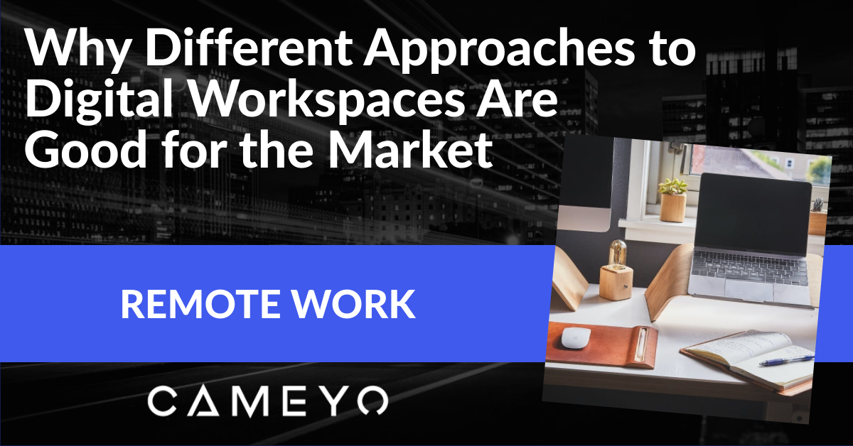 Image for Cameyo blog post on different approaches to Digital Workspaces