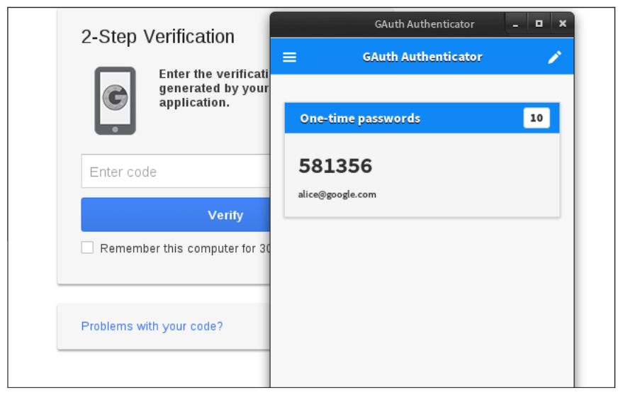 Demonstration of 2-Step Verification
