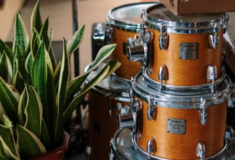 All the equipment you will need to become a master drummer.