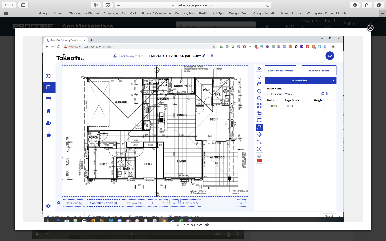 Procore Joyne screenshot blueprint