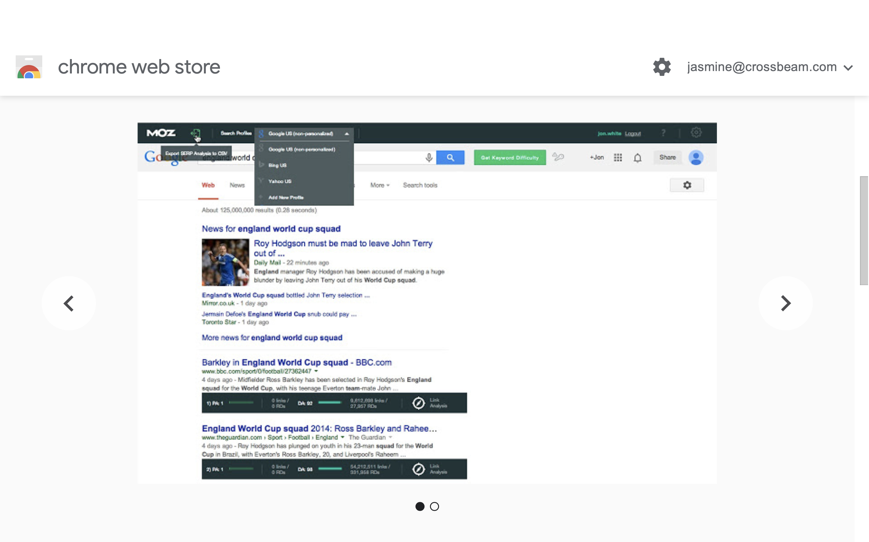 Moz Chrome extension