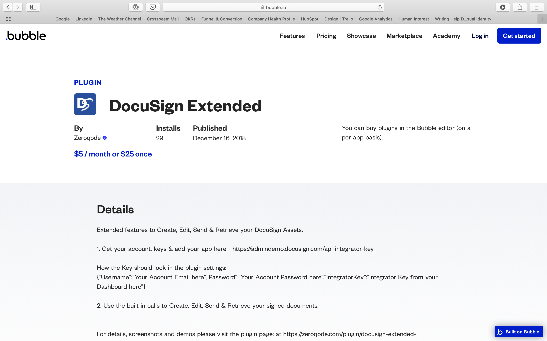 DocuSign plugin Bubble