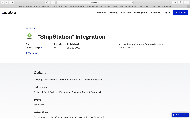 ShipStation Bubble plugin