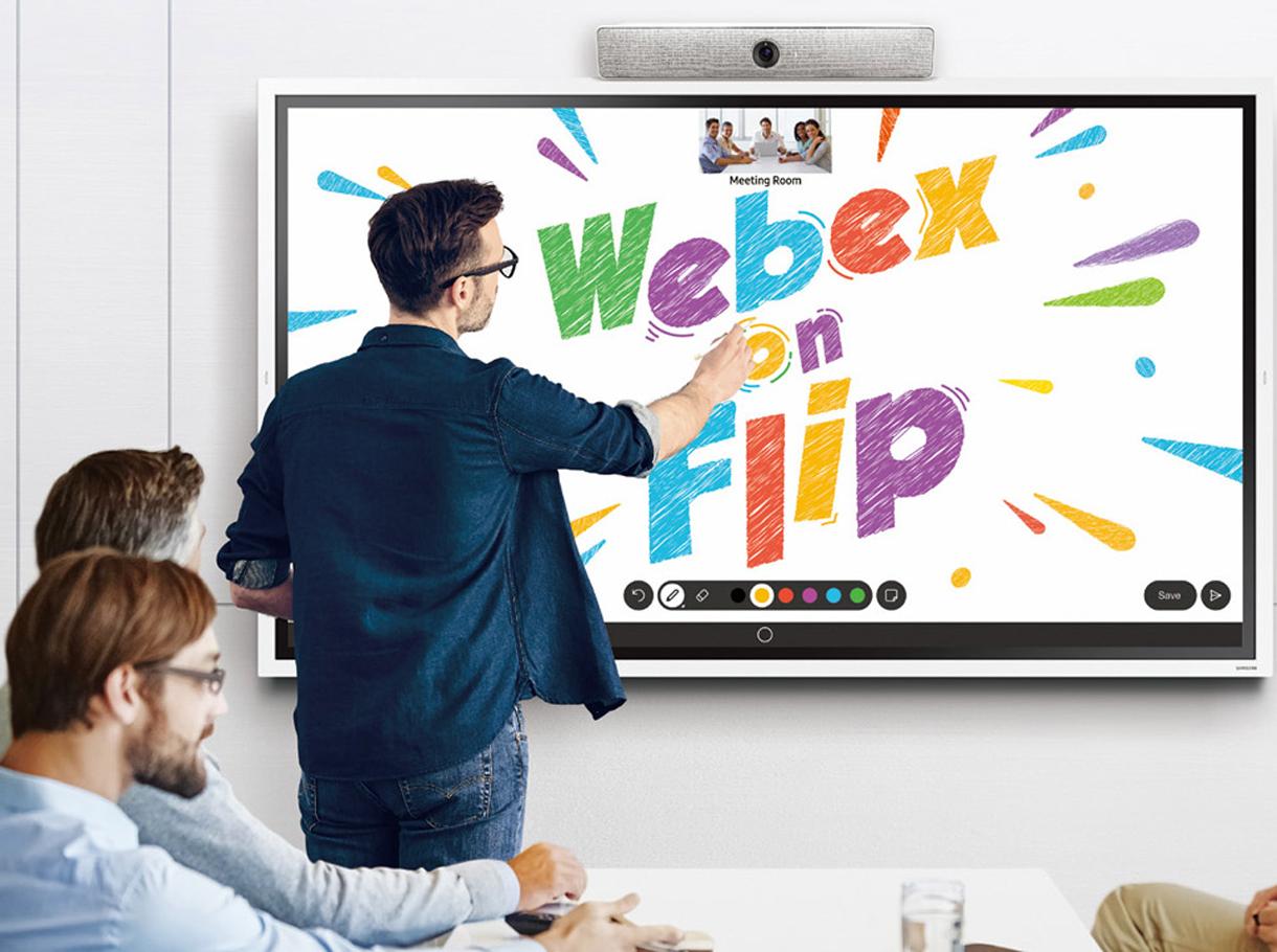 Cisco Webex on Samsung Flip