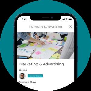 Forbes app screenshot of Marketing & Advertising