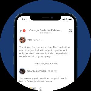 Forbes app screenshot of a member's.