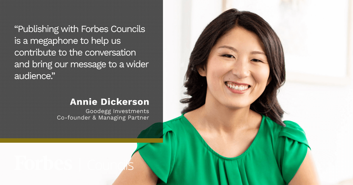 Forbes Councils member Annie Dickerson