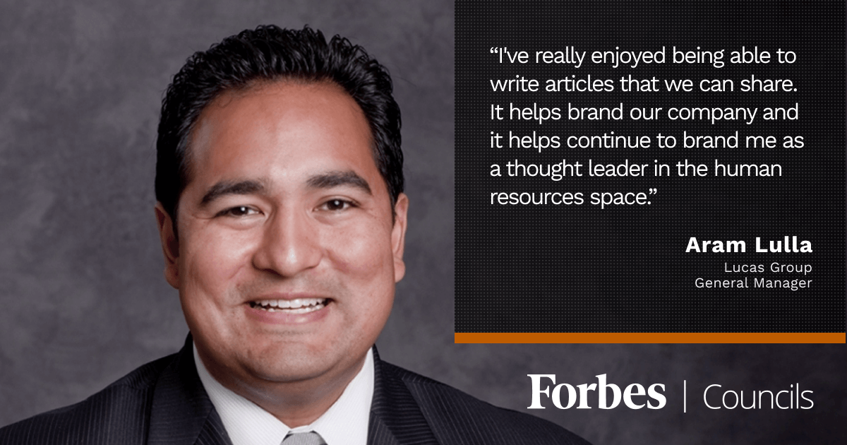 Forbes Councils Gives Aram Lulla Increased Visibility as an HR Thought Leader