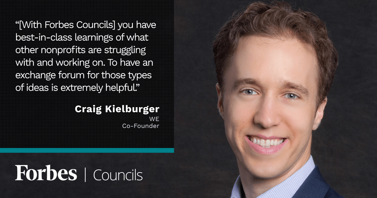 Forbes Nonprofit Council member Craig Kielburger
