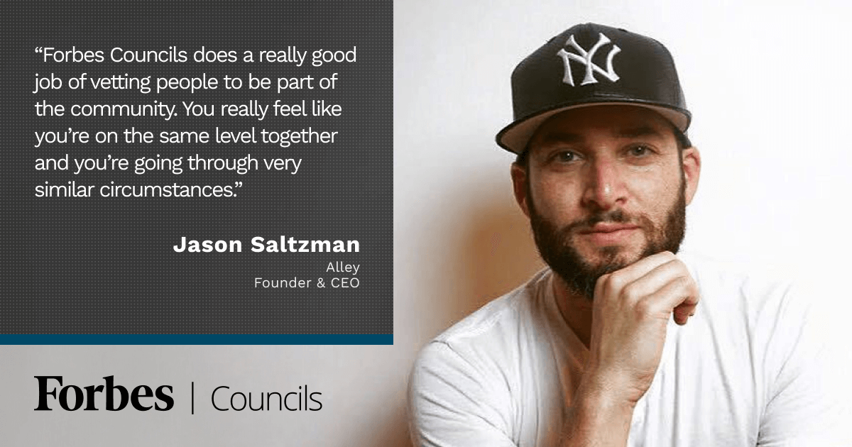 Forbes Business Council member Jason Saltzman