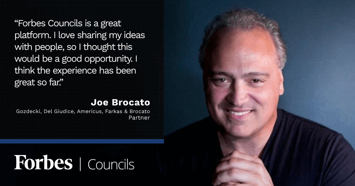 Joe Brocato Values Forbes Councils as a Stellar Brand Through Which He Can Share Thought Leadership