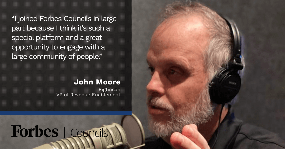 John Moore Says Forbes Councils Publishing Helps Him Evangelize for His Industry