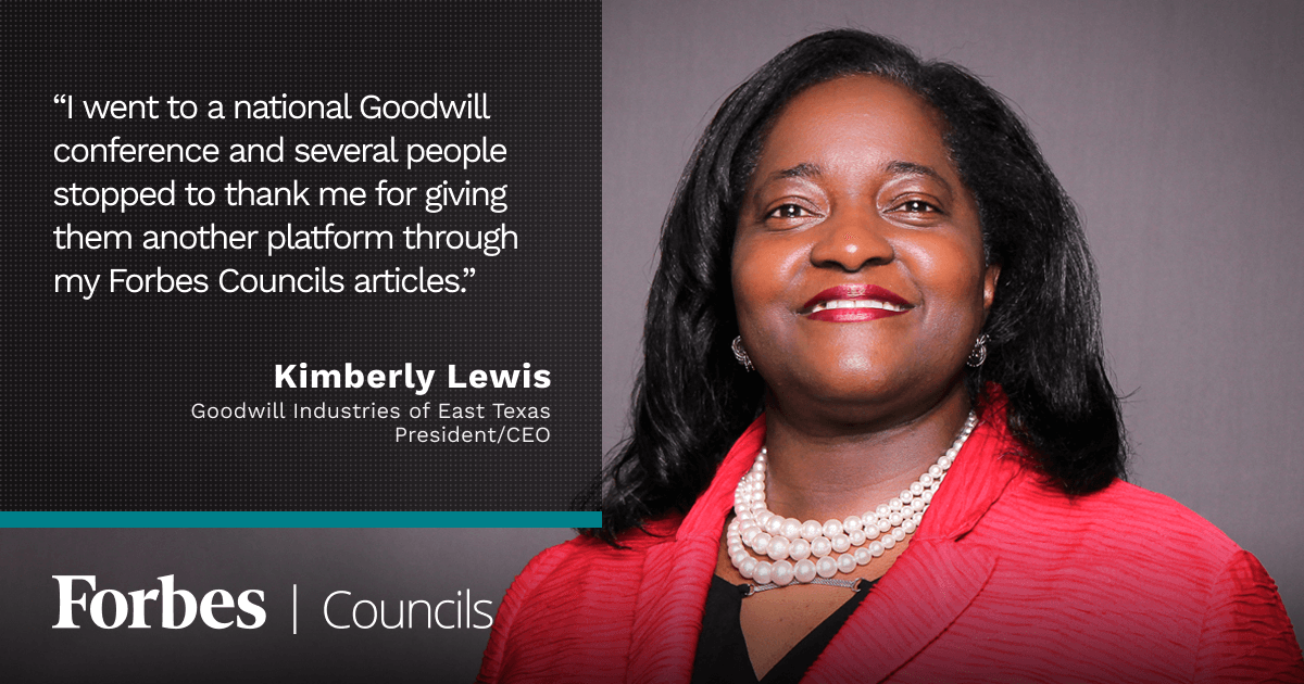 Forbes Nonprofit Council member Kimberly Lewis