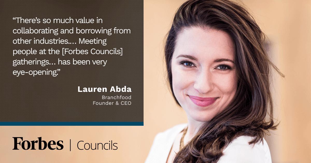 Forbes Business Council member Lauren Abda