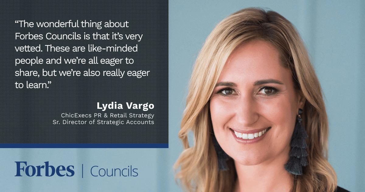 Forbes Business Development Council member Lydia Vargo
