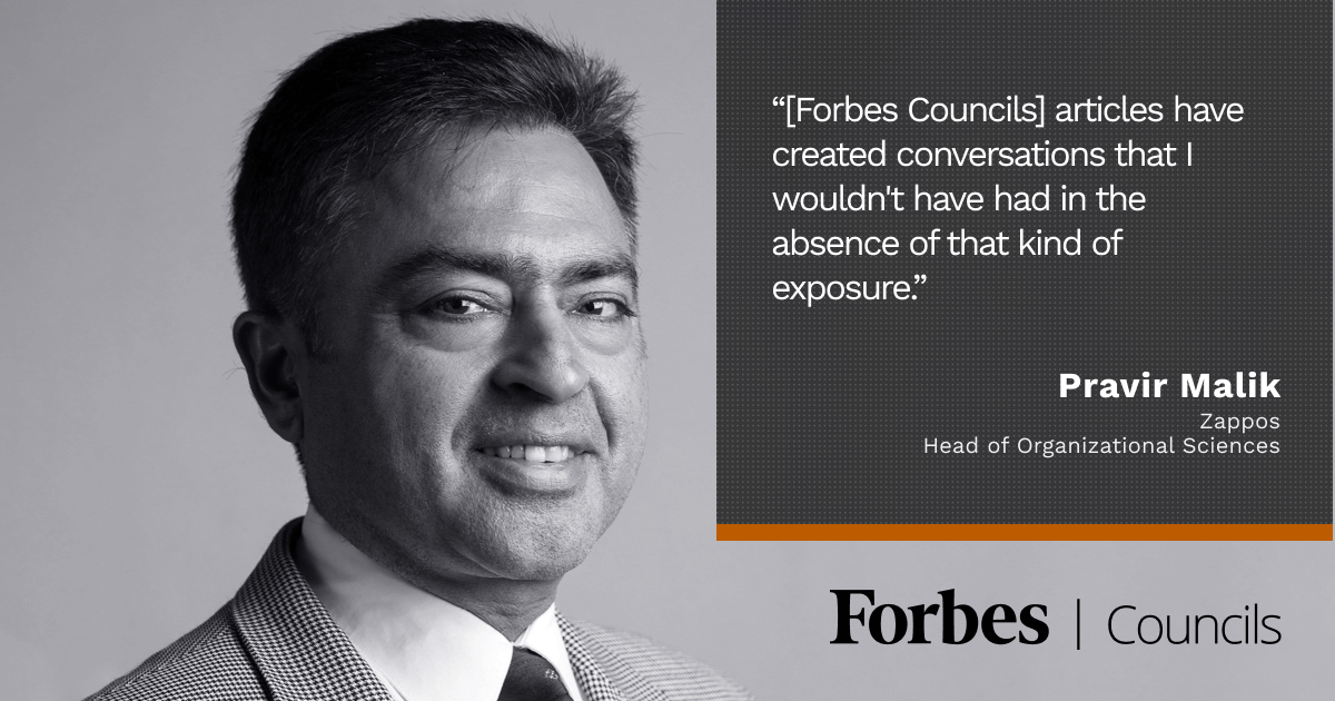 Forbes Human Resources Council member Pravir Malik