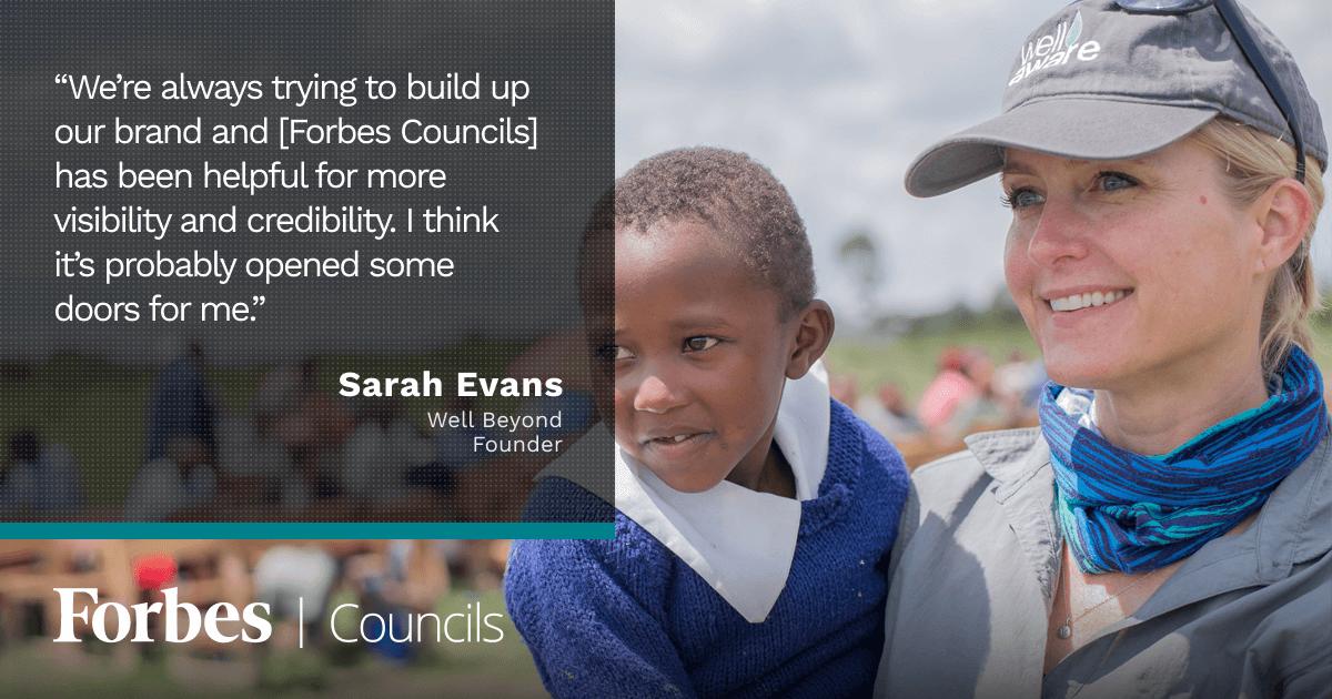 Forbes Nonprofit Council member Sarah Evans