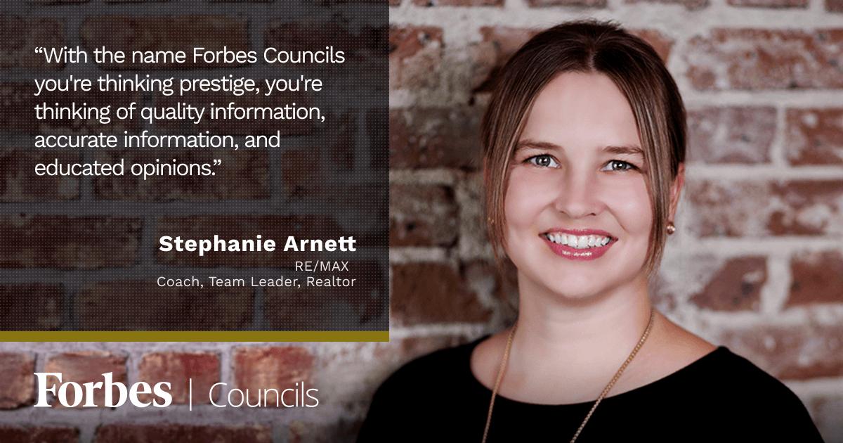 Forbes Councils member Stephanie Arnett