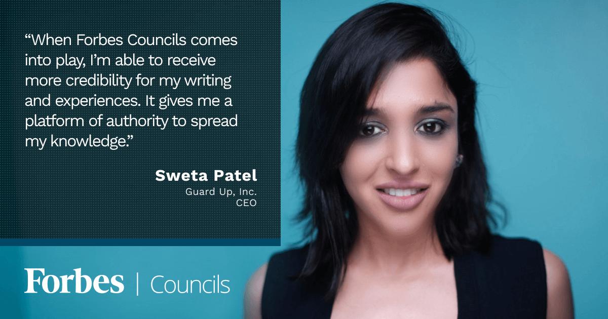 Forbes Business Council member Sweta Patel