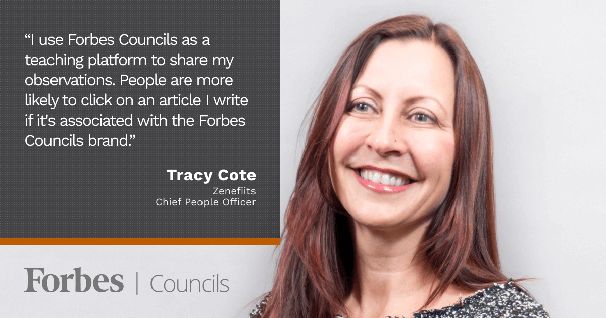 Tracy Cote Uses Forbes Councils Publishing as a High-Value Teaching Tool
