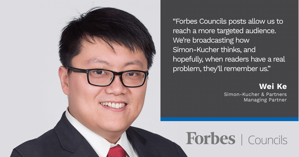 Forbes Finance Council member Wei Kei