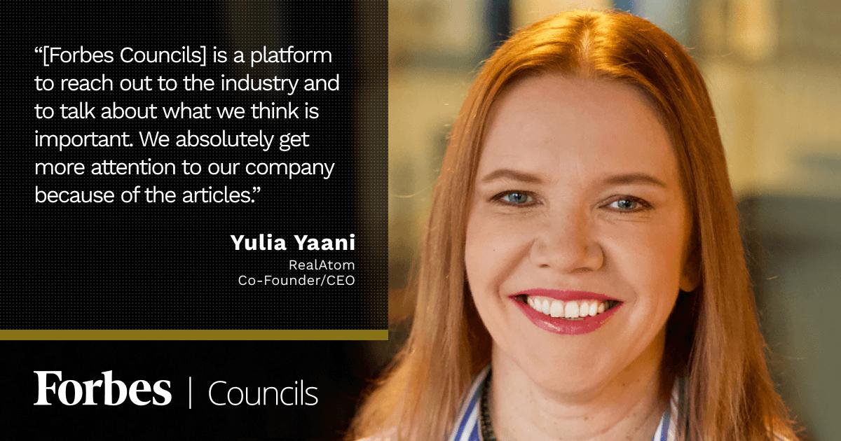 Forbes Councils member Yulia Yaani